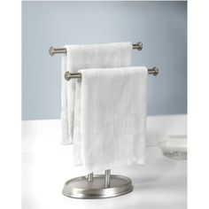 Countertop towel tree for hand towels & guest towels ...