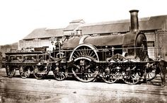 On 11 May 1848, the 9.15am express from Paddington to Bristol with four carriages and a van hauled by broad gauge Iron Duke class loco 'Great Britain' is said to have completed the 53 miles to Didcot in a record time of 47½ minutes, averaging 67mph with a maximum around 77mph on the journey. The train was driven by J Michael Almond with fireman Richard Denham. This photo shows 'Great Britain' some years later, after rebuild in 1870 with a new boiler. 'Great Britain' was withdrawn in…