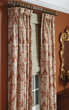 Draperies With Top Accent Band Drapes Curtains Window