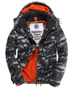 Mens - Arctic Windcheater in Black Camo hazzard Orange 19b066a200