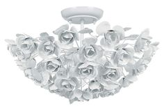 Milano Semi Flush Mount. So pretty. But I can't imagine it would give off much light (3 60W bulbs). And it would be a nightmare to clean, no?