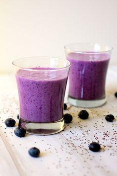 blueberry chia smoothies.