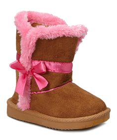 Look what I found on #zulily! Amy Brown & Hot Pink Ribbon Boot by Amy #zulilyfinds