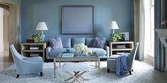Living Room Ideas: Blue Living Room Design