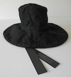 masnada BLACK wool HAT one size ann NEW demeulemeester horisaki 3612c7a31ab5
