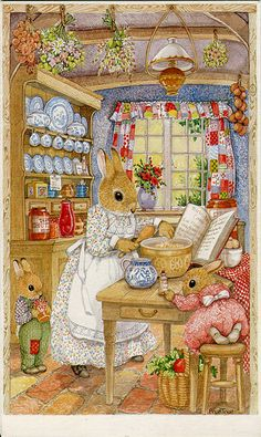 Bunnies are a passion of mine. This image allows me to feel the warmth of my mothers kitchen