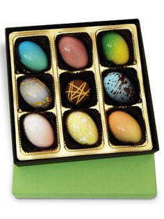 """Elegant Eggs: With rich flavors like white raspberry and Tahitian caramel, consider the """"Easter egg"""" reinvented."""