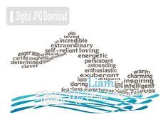 Personalized boy swimmer digital word art, swimming wall art, personalized swimmer gift, printable d Swim Team Mom, Swim Team Shirts, Swim Logo, Swimming Posters, Swimming Pictures, Synchronized Swimming, Competitive Swimming, Digital Word, Gifts For Swimmers