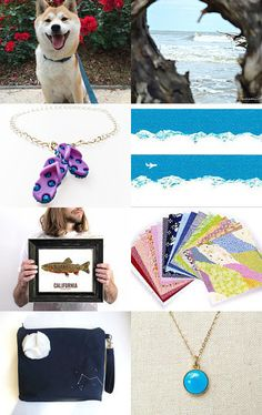 "Here's fun summer for you. @etsy Treasury ""Let's go to the beach"" by Aya"
