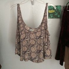 urban outfitters tank top low cut, flowy, NEVER WORN Kimchi Blue Tops Tank Tops