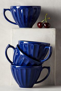 Latte Mugs - anthropologiecom - like them in cobalt, like them in wedge wood blue and daffodil too click now to see more. Kitchenware, Tableware, Latte Mugs, Kitchen Colors, Mugs Set, Home Decor Styles, Coffee Cups, Tea Pots, Dishes