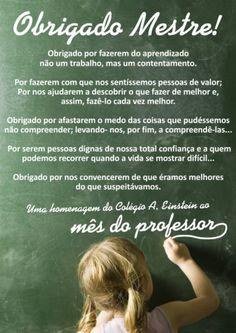 mensagens de aluno para o dia dos professores