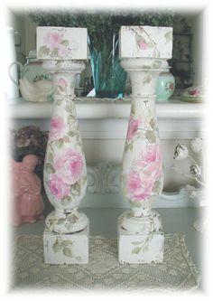 Antique Baluster Candleholders