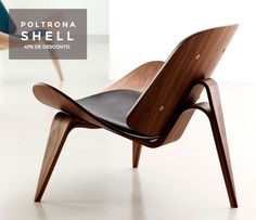 Poltrona Shell, designer Hans J. Wegner, 1963.  Último dia para levar esse clássico do design mobiliário com 22% de desconto e frete gratuito. Confira!