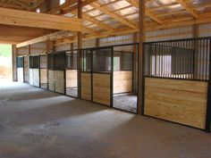 Horse stalls from simple to extravagant, we can fit most any budget