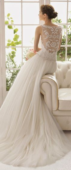 Aire Barcelona 2015 Bridal Collection - Part 2 - Belle the Magazine . The Wedding Blog For The Sophisticated Bride #Weddings