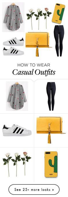 """Без названия #962"" by mari108 on Polyvore featuring adidas, Yves Saint Laurent and WithChic"