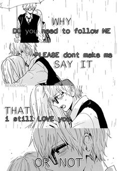""" Why \"" Manga: hibi chouchou Dark Drawings, Animal Drawings, Hibi Chouchou, Broken Friendship, Anime Qoutes, Image Memes, Manga Couple, Life Lesson Quotes, Anime Life"