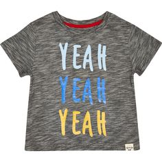 Mini boys grey yeah yeah yeah print t-shirt - tops - mini boys - boys