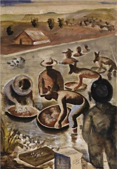 Candido Portinari Garimpeiros no Rio [Famous Paintings - Shop Beautiful Art Hand-paintied Today. Pictures At An Exhibition, Social Realism, Art Database, Portrait Art, Art Google, Figurative Art, Earthy, Painting, Culture