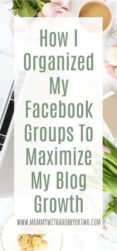 I organized my Facebook groups in order to maximize my blog growth and build working relationships.