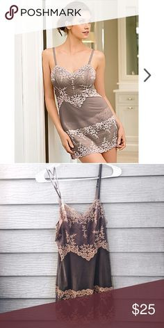 Macy's sheer embellished slip See through sexy great condition slip Macy's Intimates & Sleepwear Chemises & Slips
