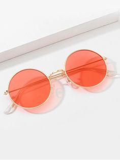 Circle Sunglasses, Pink Sunglasses, Sunglasses Accessories, Mirrored Sunglasses, Clothing Accessories, Luxury Glasses, Glasses Trends, Cute Glasses, Fashion Eye Glasses