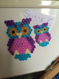 Owls hama perler beads