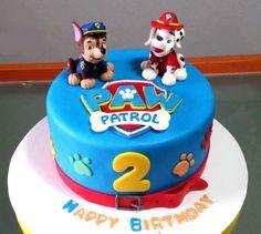 Tarta de Paw Patrol. Perfecto para una celebración temática.