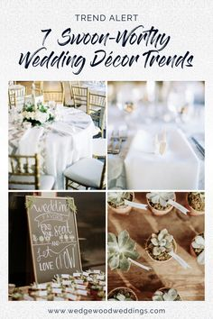 Wedding décor comes in all shapes and sizes - with each couple choosing unique design accents to showcase their own personality. If you're looking for inspiration to up the ante on your wedding aesthetic, look no further than these cute and customizable wedding décor trends. Get décor inspiration for every wedding budget and craft level. Succulent Wedding Favors, Wedding Flowers, Budget Wedding, Fall Wedding, Polaroid Wedding, Storybook Wedding, Wedding Cake Alternatives, California Wedding Venues, Wedding Trends