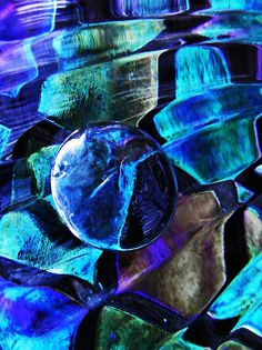Glass Abstract 483 by S Loft
