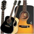 Epiphone Acoustic Guitar Ebony from Epiphone Guitar Guy, Cool Guitar, Guitar Musical Instrument, Musical Instruments, Best Acoustic Guitar, Acoustic Guitars, Cool Electric Guitars, Guitar For Beginners, Country Artists