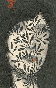 Ofra Amit (Israeli, b. 1976, based Tel Aviv, Israel) - Illustrations from Rootless Treetops for LUKS Calendar 2013, Berlin