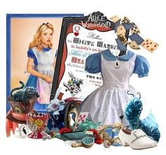 """Alice in Wonderland"" by frane-x ❤ liked on Polyvore featuring Disney Couture"