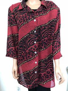 5b36ac6a81936 Delta Burke Options Plus Size 2X Blouse Shirt