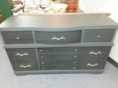 Gray milk paint and stain