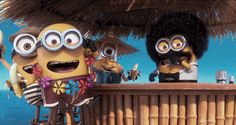 Minions are always down to party.
