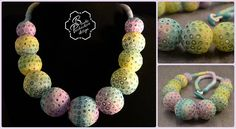 colored polymer clay bubbles beads - beaded jewelry