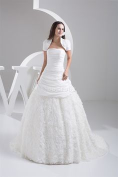 Robe de mariée exclusif naturel equipé de jacket avec sans manches de lotus - photo 5