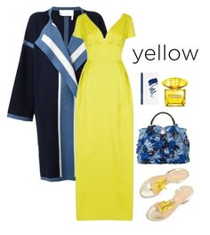 Designer Clothes, Shoes & Bags for Women Versace, Fendi, Sun, Shoe Bag, Yellow, Polyvore, Stuff To Buy, Shopping, Collection