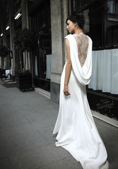 Love the back of this too. statement backs 2012 wedding dress trends cymbeline 1