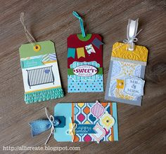 all i create: New Product Gift Tags...BANNER GREETINGS, CYCLE CELEBRATION, LABEL LOVE, LITTLE ADDITIONS