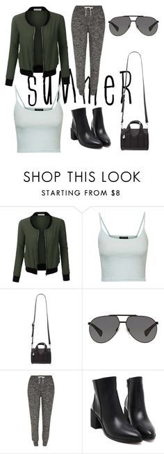 """You've been Bombed"" by megancarey-i ❤ liked on Polyvore featuring LE3NO, Topshop, Forever 21, Dolce&Gabbana, River Island and bomberjackets"