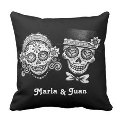Sugar Skulls Couple Pillow - Customise it!. *** Figure out more at the picture