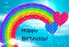 ᐅ Happy Birthday images, greetings and pictures for WhatsApp (Page Facebook Birthday Wishes, Birthday Wishes Quotes, Happy Birthday Messages, Happy Birthday Images, Birthday Photos, Birthday Greetings, Weekend Greetings, Happy Birthday Rainbow, Happy 13th Birthday