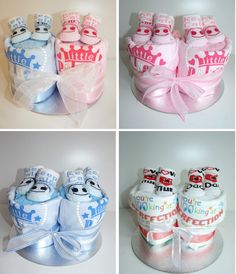 Twin baby girl nappy cake baby shower gift uk diaper cakes twins nappy cake boygirl neutral baby shower gift maternity present unique in baby christening gifts other gifts ebay negle Image collections