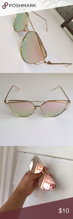 SLAY GIRL SUNNIES Rose gold sunnies Limonadapink Accessories Glasses