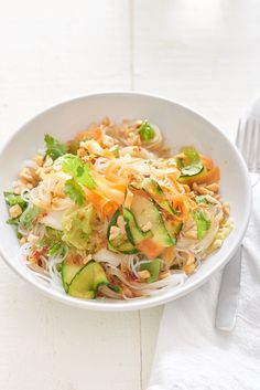 Recipe: No-Chop Cold Veggie Noodle Bowls with Soy Lime Vinaigrette — Quick and Easy Vegetarian Dinners