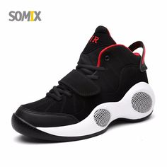 Somix Newest Men's Basketball Shoes 2017 Ankle Boots Anti-slip outdoor Sport Sneakers for Men Plus Size EURO 39-48 Free Shipping