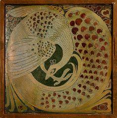 "Galileo Chini, ""Peacock Tile,"" c.1900"